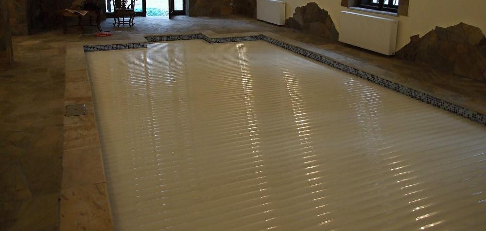 lamelove prekrytie bazena