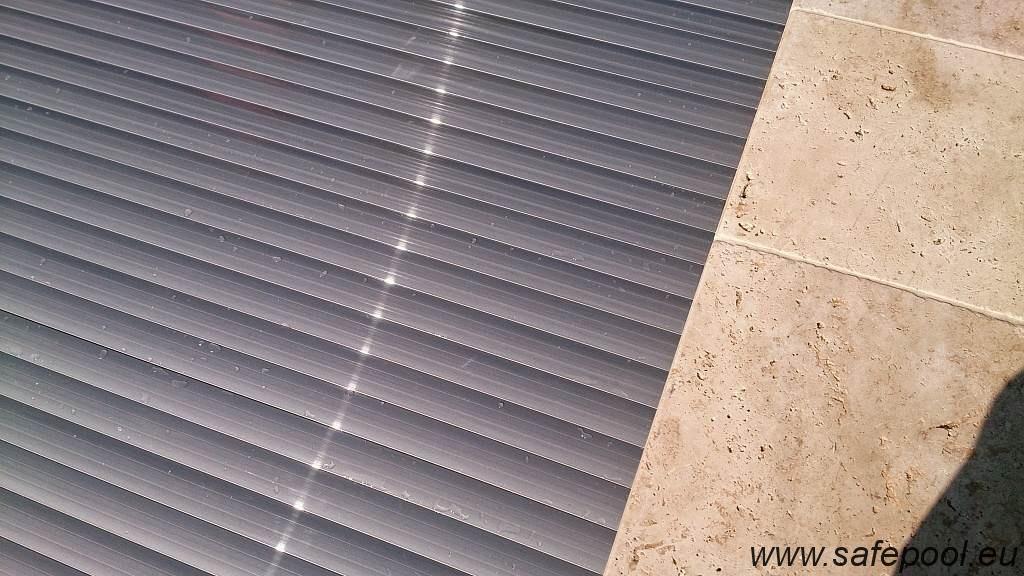 Pool slats silver solar 25
