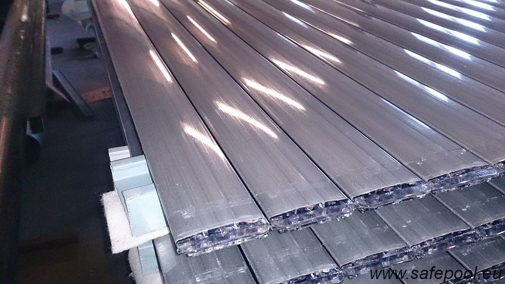 Pool slats silver solar 26
