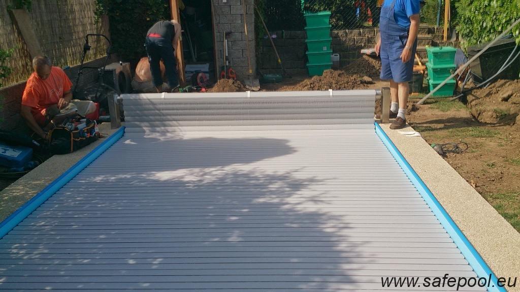 Pool slats silver solar 7