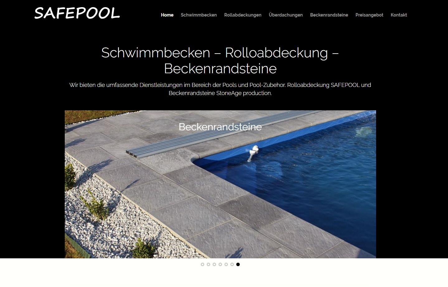 New website safepool.de